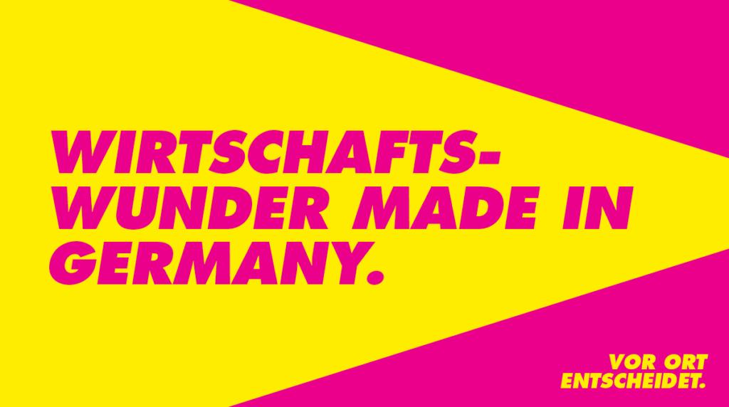 Wirtschaftswunder made in Germany